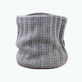 Knitted neck warmer merino Kama S18 - Light Gray