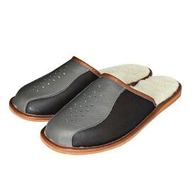 Men's leather slippers Deluxe