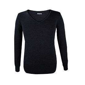 Women's sweater merino Kama 5101 - Dark Gray
