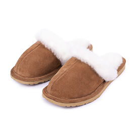 Women's slippers Marie with sheep wool