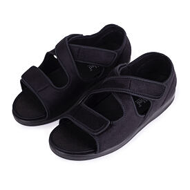 Medical orthopedic footwear open with wide opening Black