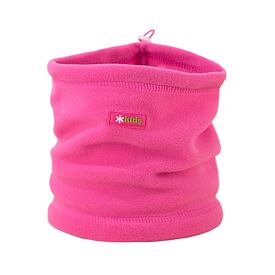 Kid's knitted neck warmer fleece Kama B14 -  Pink