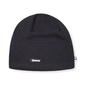 Knitted merino cap Kama AW19 Windstopper Soft Shell - Black