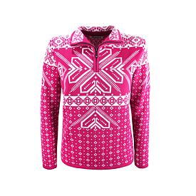 Women's sweater merino Kama 5009 - Pink