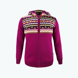Women's sweater merino Kama K5100 - Pink