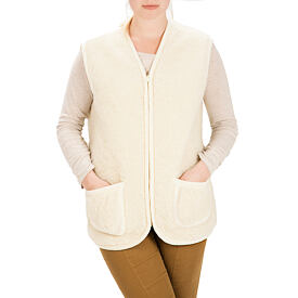 Vest from sheep wool - Natural, Zipper