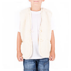 Kid's vest from sheep wool merino - Natural