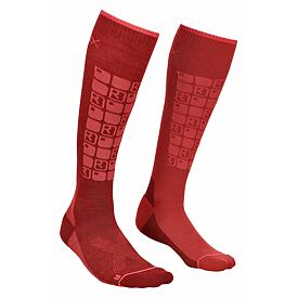Women's knee socks merino Ski Compression Dark Blood