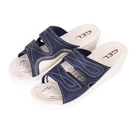 Women's orthopedic gel slippers Blue