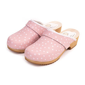 Women's orthopedic clogs Spring - Pink dot