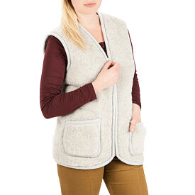 Vest from sheep wool - Light Gray, Zipper