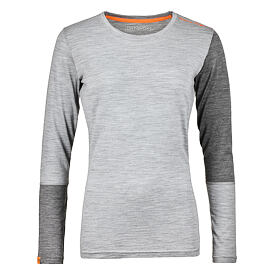 Women's functional merino triko 185 rock'n wool long sleeve Ortovox - Gray Blend Grey Blend