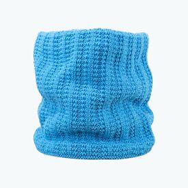 Knitted neck warmer merino Kama S18 - Cyan