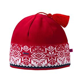 Knitted cap merino Kama A52 - Red