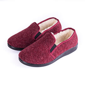 Women's antiskid slippers with sheep wool blue