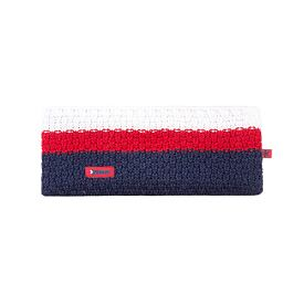 Knitted headband merino KAMA C39 Navy Dark blue