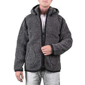 Sweatshirt 2in1 from sheep wool - Dark gray