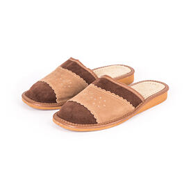 Women's summer leather slippers