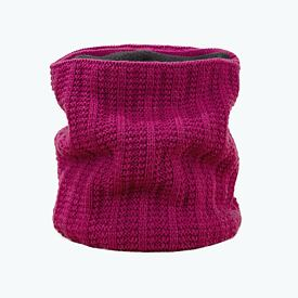 Knitted neck warmer merino Kama S18 - Purple Light gray