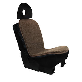 Car seat cushion from Merino wool - Brown