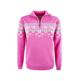 Women's sweater merino Kama 5007 - Pink