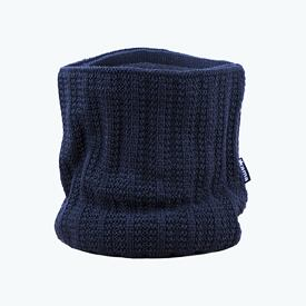 Knitted neck warmer merino Kama S18 - Navy Dark blue