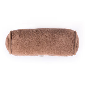 Pillow cylinder from sheep wool - Camel Brown