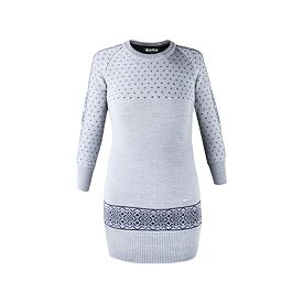 Knitted merino dress KAMA 5016 Gray