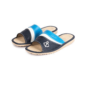 Women's Summer Leather slippers  - Anchor
