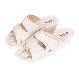 Women's orthopedic gel slippers Beige