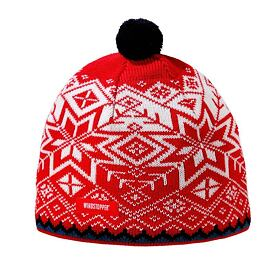 Knitted merino cap Kama AW41 Windstopper Soft Shell - Red