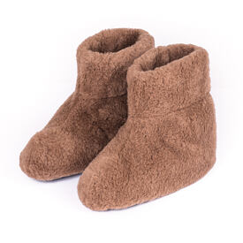 TV slippers from sheep's wool - Camel