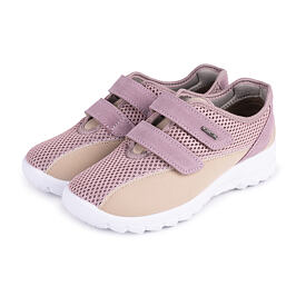Women's breathable orthopedic sneakers with velcro Pink
