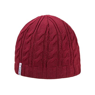 Knitted cap merino Kama A110 - Red