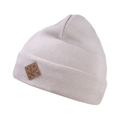 Knitted cap merino Kama K50 - Off White