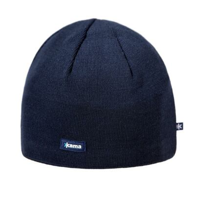 Knitted merino cap KAMA A02 - Navy Dark blue