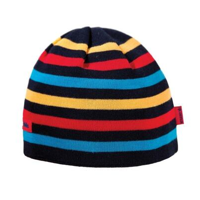 Kids knitted merino cap KAMA B70  - Dark blue