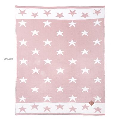 Kid's blanket merino KAMA Q102 70x90 - Light Pink
