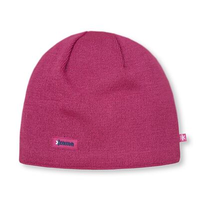 Knitted merino cap Kama AW19 Windstopper Soft Shell - Pink