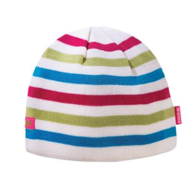 Kids knitted merino cap KAMA B70  - White