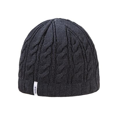 Knitted cap merino Kama A110 - Dark Gray