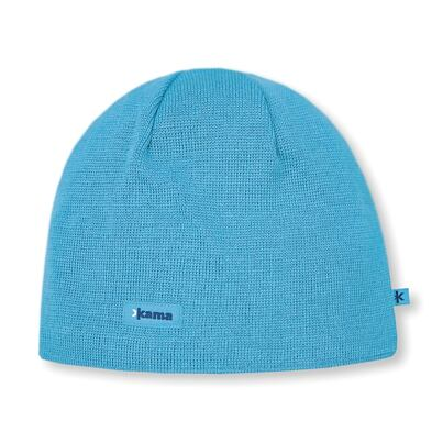 Knitted merino cap Kama AW19 Windstopper Soft Shell - Cyan