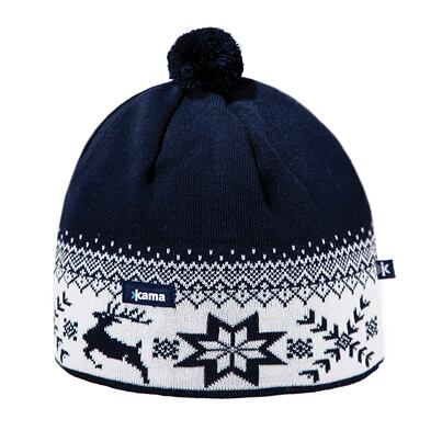 Beanie Merino KAMA AW01 Gore-Windstopper - Navy Dark blue