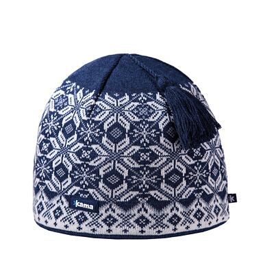 Knitted cap merino Kama A57 - Navy Dark blue