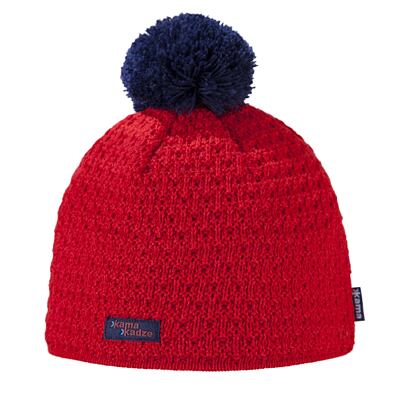 Knitted cap merino Kama K36 - Red