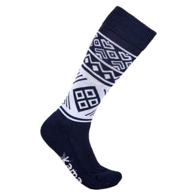 Knee socks KAMA F02 - Dark blue
