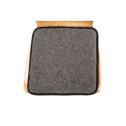Chair booster from Merino Wool - Dark Gray