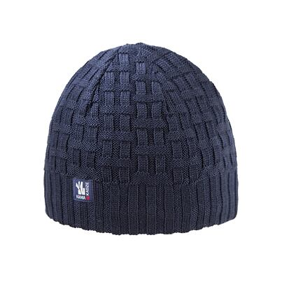 Knitted cap merino Kama A112 - Navy Dark blue