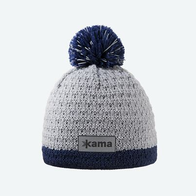 Kids knitted merino cap KAMA B71 - Gray